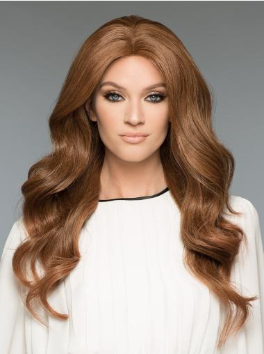 Brown 100% Hand-tied Long 20 Inches Natural Looking Wigs