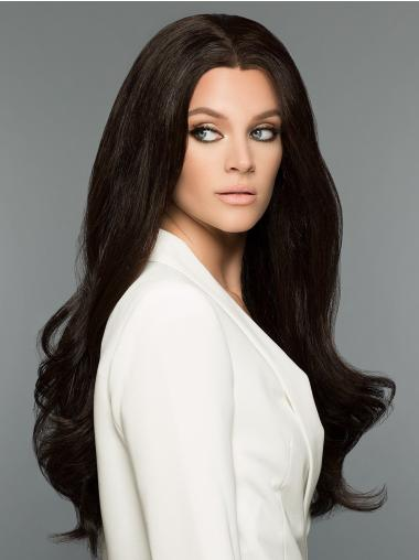 Black 100% Hand-tied Long 26 Inches 100% Human Hair Wigs