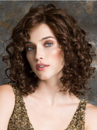 "12"" Curly Auburn Ideal 100% Hand-tied Wigs"