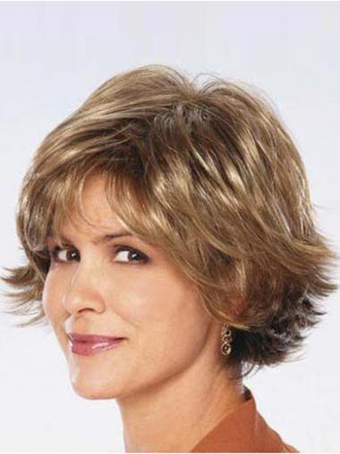 Synthetic Medium Straight Suitable Brown Wigs