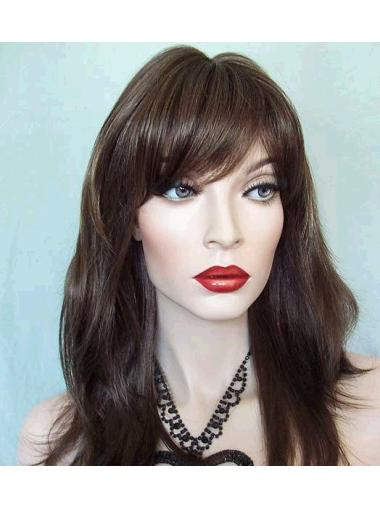 Synthetic Long Straight Beautiful Brown Wigs